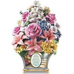 Thomas Kinkade Bouquet of Memories Remembrance Sculpture