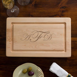 "Engraved Monogram 13"" Maple Cutting Board"