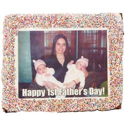 Giant Custom Photo Brownie