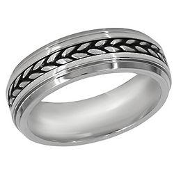 Men's Braid Pattern Stainless Steel Ring
