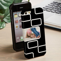 Modern One Photo Personalized iPhone Case
