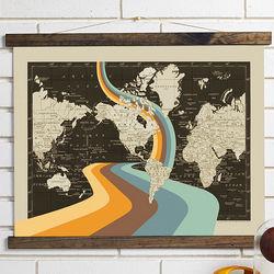 Lost Modern Retro Map Art