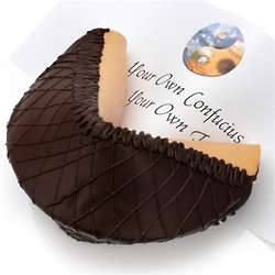 Dark Chocolate Lover's Personalized Giant Fortune Cookie
