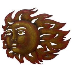 The Sun's Song Fair Trade Steel Wall Art Sculpture
