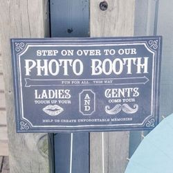 Chalkboard Print Personalized Photo Booth Signs Set