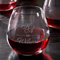 Sheridan Personalized Stemless Red Wine Glass