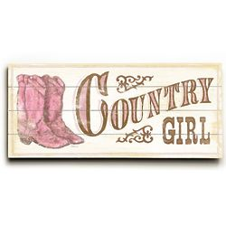 Country Girl ll 10x24 Vintage Style Sign
