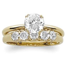 CZ 2 Pc. Wedding Ring Set