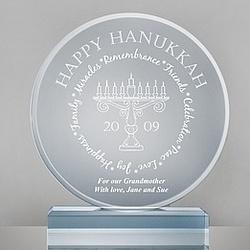 Hanukkah Blue Acrylic Plaque