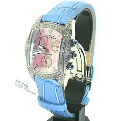 Aqua Master Diamond Watch with Blue Band