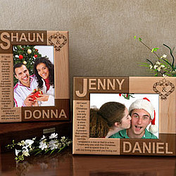 Personalized You & I During Christmas Time Wooden Picture Frame