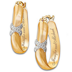 Everlasting Kiss Personalized Diamond Earrings