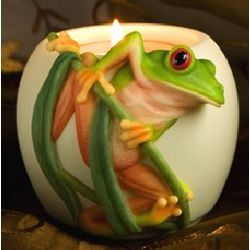 Tree Frog Votive Candle Holder