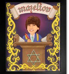 Bar Mitzvah Caricature from Photos