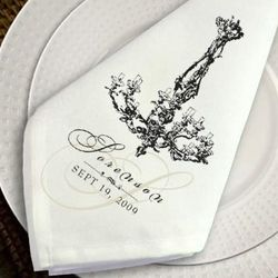 Personalized Chandelier Napkin Set