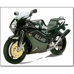 Personalized Motorcycle Pop Art Canvas