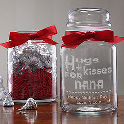 Personalized Sweet Treats© Candy Jar with Hershey's Kisses®