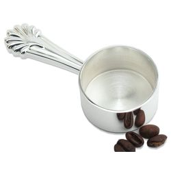 Personalized Silver Shell Handle Coffee Scoop