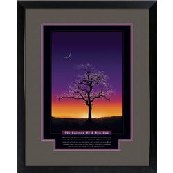 Essence of a New Day Framed Motivational Poster