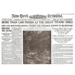 100 Year Anniversary Titanic Historic Reprint Newspaper