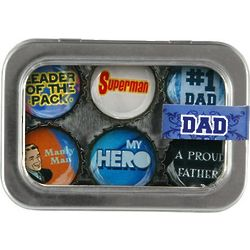#1 Dad Six Pack of Magnets