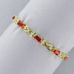 Gold Toned Birthstone Bracelet