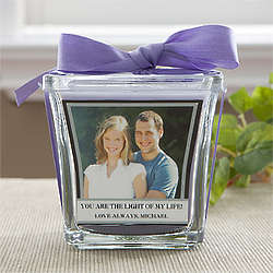 Personalized Lavender and Linen Scented Candle
