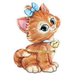 Granddaughter, You're Purrrfect Personalized Kitten Music Box