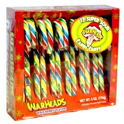 Warhead Super Sour Candy Canes