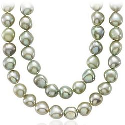 Pistachio Baroque Freshwater Cultured Pearl Necklace
