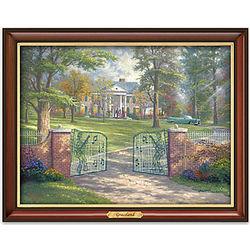 Thomas Kinkade Graceland Illuminating Framed Print