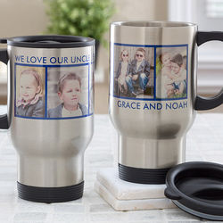 Picture Perfect Personalized 5 Photo Travel Mug