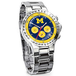 Michigan Wolverines Commemorative Chronograph Watch