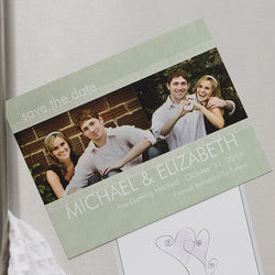 Simply Timeles Custom Photo Wedding Save the Date Magnet