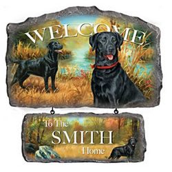 Lovable Labradors Personalized Welcome Sign