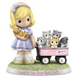 Cat Lovers' Purr-fect Precious Moments Porcelain Figurine