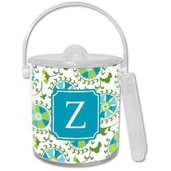 Personalized Suzani Teal Ice Bucket