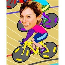 Your Photo in a Professional Cyclist Caricature