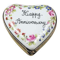 Anniversary Heart Limoges Box