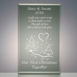 Our First Christmas Together Acrylic Plaque