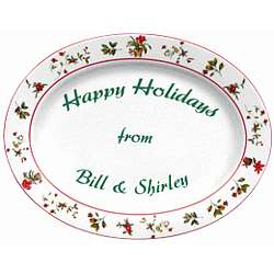 Personalized Happy Holidays Platter