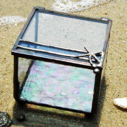 Contemporary Stained Glass Box with Leaded Starfish