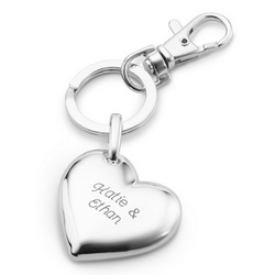Puffed Heart Key Chain