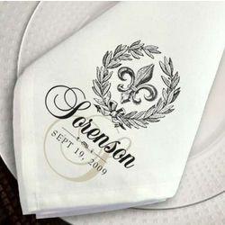Personalized Fleur de Lis Napkin Set