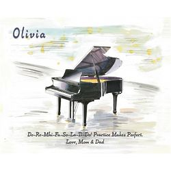 Personalized Piano Art Print