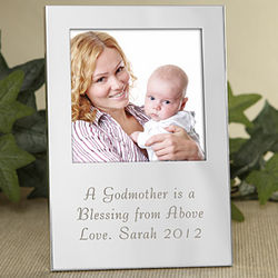 Precious Godparent Engraved Silver Frame