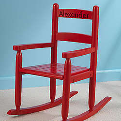 Personalized Red Rocking Chair