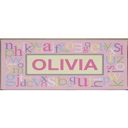 Personalized Pink Alphabet Wall Art