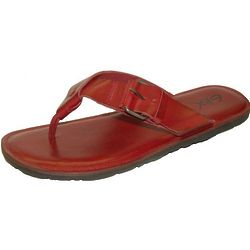 Men's Buckle Strap Thong Red Sandal