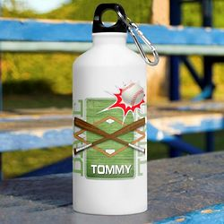Personalized Kid's Baseball Water Bottle